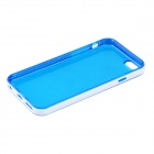 "Ultra-Slim Removable Protective TPU Back Case for IPHONE 6 4.7"" - Blue + White"