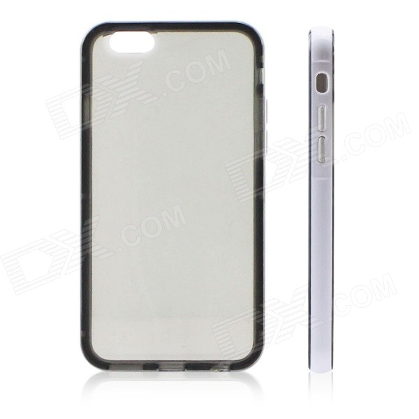 "Ultra-Slim Removable Protective TPU Back Case for IPHONE 6 4.7"" - Black + White"