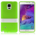 ENKAY Protective TPU Back Case Cover w/ Stand for Samsung Galaxy Note 4 N9100 - Green