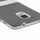 ENKAY Protective TPU Back Case Cover w/ Stand for Samsung Galaxy Note 4 N9100 - Grey
