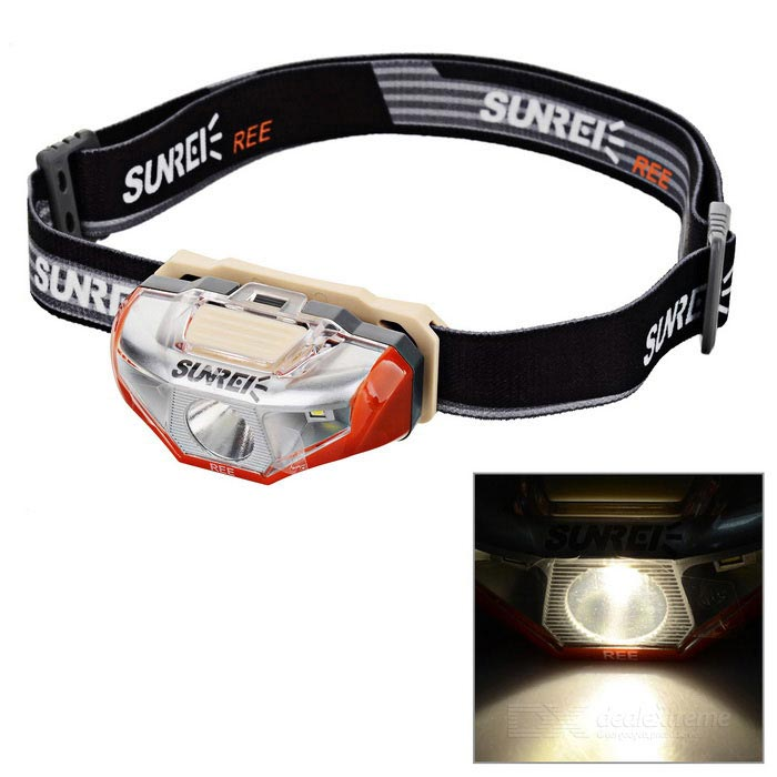SUNREE Waterproof 140lm 4-Mode Warm White Light LED Sports Headlamp - Orange (1 x AA) налобный фонарь sunree 2 sports2