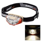 SUNREE Waterproof 140lm 4-Mode Warm White Light LED Sports Headlamp - Orange (1 x AA)