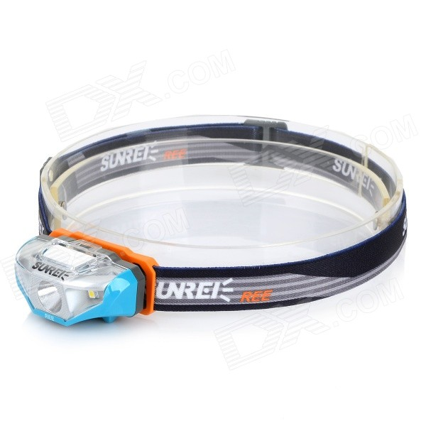 SUNREE Waterproof 140lm 4-Mode Warm White Light LED Sports Headlamp - Blue (1 x AA) hl 037 80w 7 projector daymaker led headlight for jeep wrangler rubicon ct tj jk fj miata 4x4 off road hi low beam led headlamp