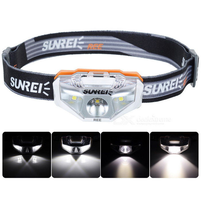 SUNREE Waterproof 140lm 4-Mode Warm White Light LED Sports Headlamp - White (1 x AA) hl 037 80w 7 projector daymaker led headlight for jeep wrangler rubicon ct tj jk fj miata 4x4 off road hi low beam led headlamp