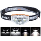 SUNREE Waterproof 140lm 4-Mode Warm White Light LED Sports Headlamp - White (1 x AA)