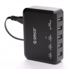 ORICO DCAP-5S-BK Universal 40W 5-Port USB Charger for IPHONE / IPAD/ Samsung - Black (EU Plug)