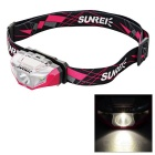 SUNREE Waterproof 140lm 4-Mode Warm White Light LED Sports Headlamp - Deep Pink (1 x AA)