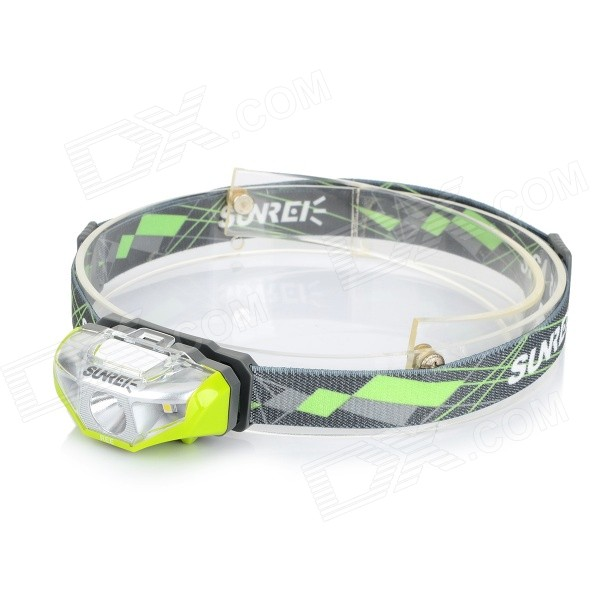 SUNREE Waterproof 140lm 4-Mode Warm White Light LED Sports Headlamp - Green (1 x AA) hl 037 80w 7 projector daymaker led headlight for jeep wrangler rubicon ct tj jk fj miata 4x4 off road hi low beam led headlamp