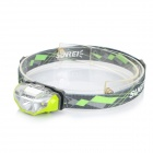 SUNREE Waterproof 140lm 4-Mode Warm White Light LED Sports Headlamp - Green (1 x AA)