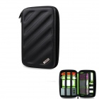 BUBM Shockproof EVA Hard Shell Large-Capacity Multi-Purpose Digital Storage Bag - Black