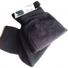 Soft / Elasticity Thicken Cashmere Wool Knee Warmer Supporter - Black (Pair)