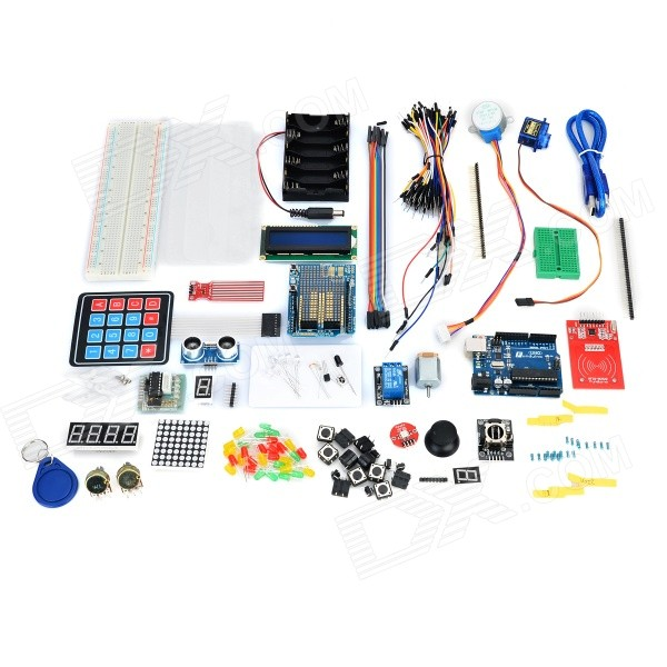 KEYES DIY Funduino UNO R3 Development Board Learning Kit for Arduino - Multicolored + Transparent