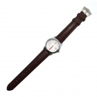 Business Casual PU bande analogique bracelet à quartz de MIKE 8221 femmes - Brown (1 x 626)