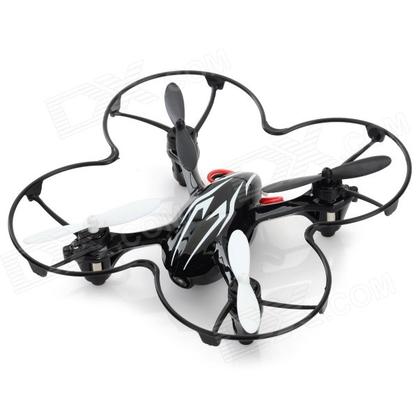 H108C H108C HD 2.4GHz 4-CH R/C Quadcopter w/ 2.0MP Camera / Gyro / Lamp - Black + White (4 x AAA)