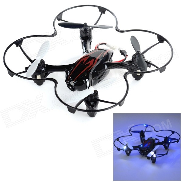 H108C H108C HD 2.4GHz 4-CH R/C Quadcopter w/ 2.0MP Camera / Gyro / Lamp - Black + Red (4 x AAA)