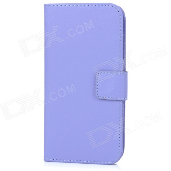 M-99 Protective Flip-Open PU Case Cover w/ Stand + Card / Money Slots for IPHONE 6 - Purple high quality leather wallet style flip open case w card slots for iphone 6 plus brown