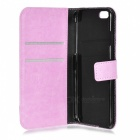M-99 Protective Flip-Open PU Case Cover for IPHONE 6S - Pink