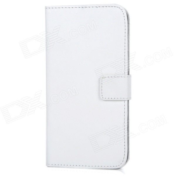 M-90 Protective Flip-Open PU Leather Case w/ Stand + Card / Money Slots for IPHONE 6 PLUS - White protective pu leather pc flip open case w card slots stand for iphone 6 plus black