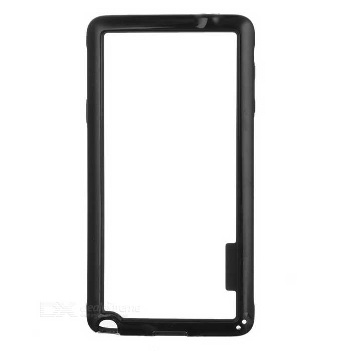 Ultra Thin Protective ABS Bumper Frame Case for Samsung Galaxy Note 4 - Black protective abs bumper frame for samsung galaxy note 2 n7100 brown