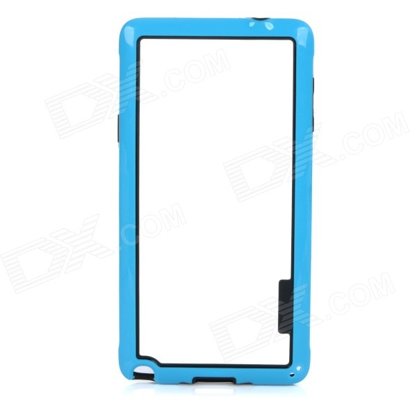 Ultra Thin Protective ABS Bumper Frame Case for Samsung Galaxy Note 4 - Blue + Black ultra slim clear phone cases for samsung galaxy s6