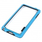 Ultra Thin Protective ABS Bumper Frame Case for Samsung Galaxy Note 4 - Blue + Black