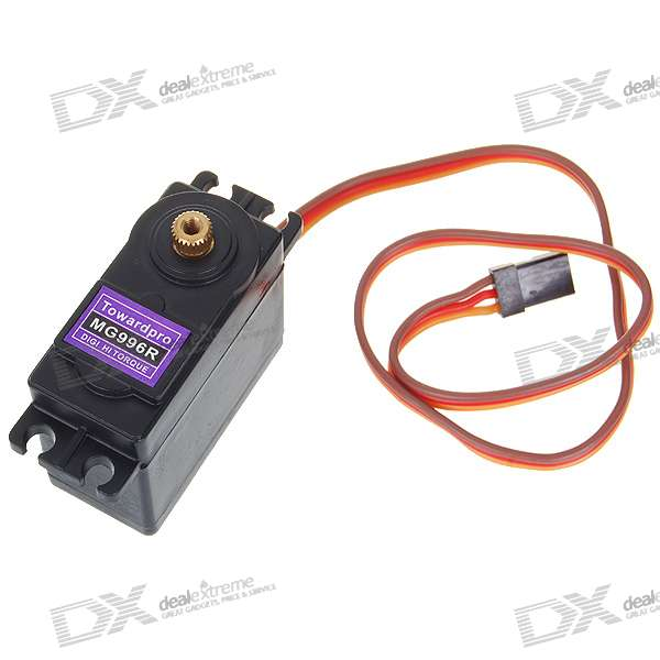 MG996R Metal Gear Digital Torque Servos with Gears and Parts jx servo pdi 6115 mg kg 15 large torque torque metal gear steering gear digital hollow cup standards