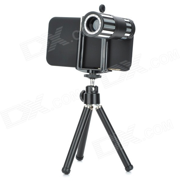 External 12X Telescope Lens Set w/ Tripod / Holder for IPHONE 6 4.7 - Black laura mcdonald j lootcamp 4 weeks to reducing debt and increasing your financial fitness
