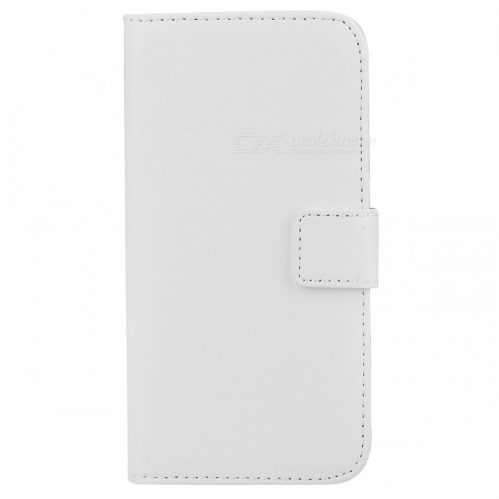 M-99 Protective Flip-Open PU Leather Case w/ Stand / Card Slots for IPHONE 6 - White antelope pattern protective flip open pu leather case w stand card slots for iphone 6 plus