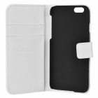 M-99 Protective Flip-Open PU Leather Case w/ Stand / Card Slots for IPHONE 6 - White