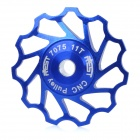 AEST AEST-14 Bike Bicycle Ultra Light 11T Aluminum Alloy Wheels Rear Derailleur Pulley - Blue