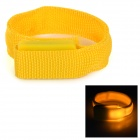 SD-65 Sports Fashionable LED Velcro Wrist Band Strap - Yellow