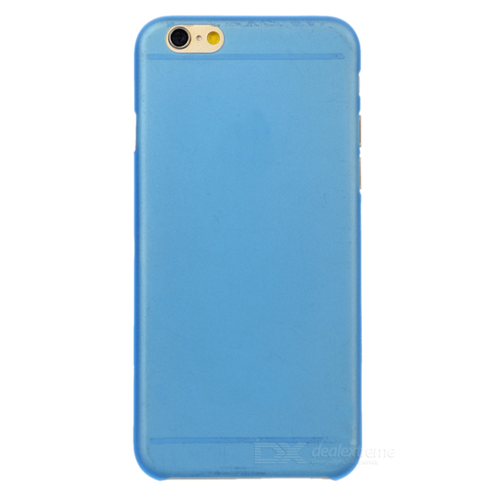 W-1 0.3mm Ultra-thin Protective Matte PC Back Case for IPHONE 6 - Translucent Blue