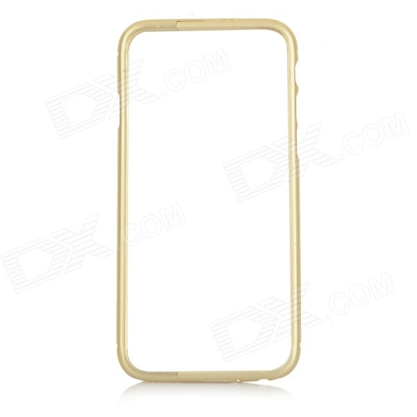 Protective Aluminum Alloy Bumper Frame Case w/ Foldable Stand for IPHONE 6 - Champagne Gold