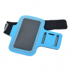 Convenient Velcro Tape Sports Armband w/ Phone Pouch for IPHONE 6 PLUS - Blue + Black