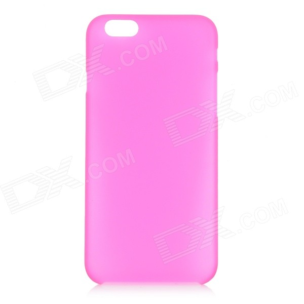 W-1 0.3mm Ultra-thin Protective PC Back Case Cover for IPHONE 6 - Transparent + Deep Pink