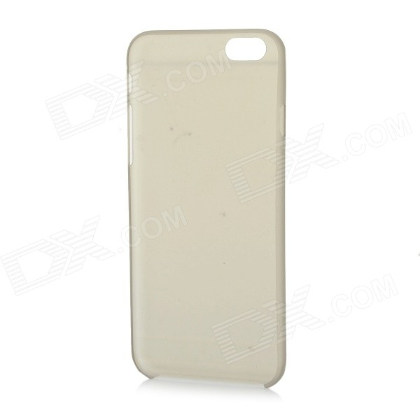 W-1 0.3mm Ultra-thin Protective PC Back Case Cover for IPHONE 6 - Transparent Grey