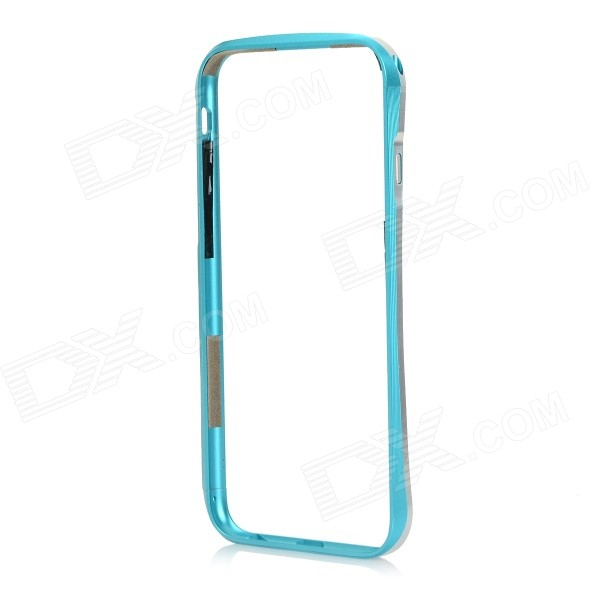 Fashionable Protective Aluminum Alloy Bumper Frame Case for IPHONE 6 - Silver + Blue protective aluminum alloy bumper frame case for iphone 6 4 7 light blue