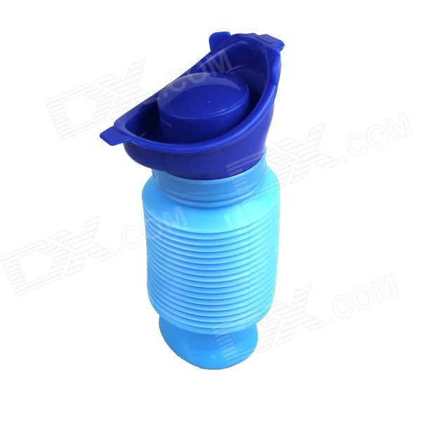 Portable Mini Outdoor Travel Emergency Retractable Mobile Toilet Urinal - Blue