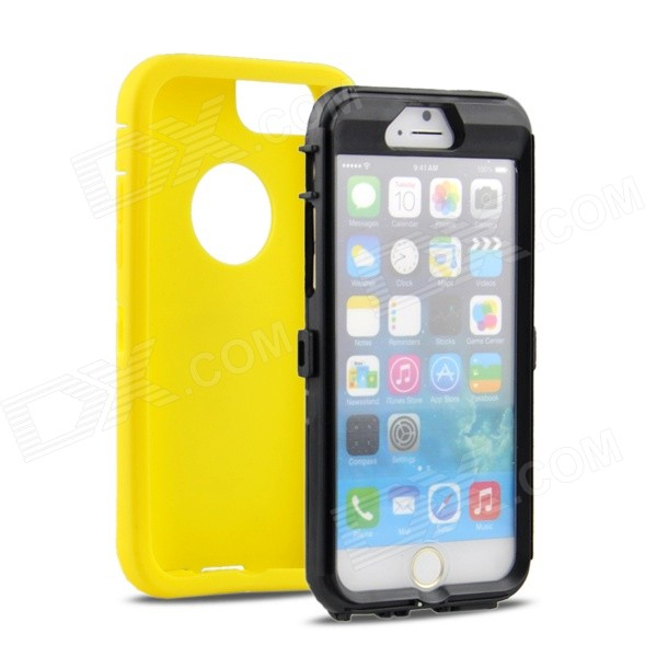 Angibabe 2-in-1 Shock Proof Silicone Back Case for IPHONE 6 4.7 - Yellow angibabe 2 in 1 protective tpu pc back case for iphone 6 plus 5 5 inch green