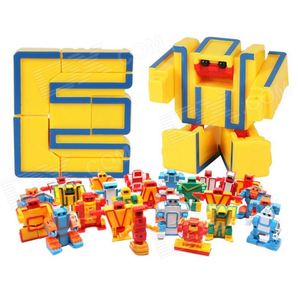kinrener-mz3112-distorted-26-letters-robot-education-toy-yellow-multi-colored