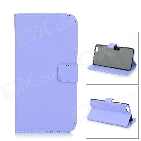 M-90 Protective Flip-Open PU Leather Case w/ Stand / Card Slots for IPHONE 6 PLUS - Light Purple