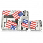 "American Flags Patterned Protective Canvas Laptop Sleeves for MACBOOK PRO AIR 11.6"" - White + Black"