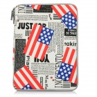 Buy American Flags Patterned Protective Canvas Laptop Sleeves MACBOOK PRO AIR 13.3 inch - White + Black