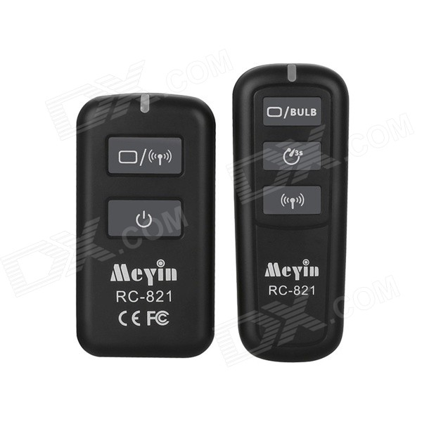 Meyin RC-821 Wireless Flash Trigger Remote Comtrol for Canon Camera - Black cdu bore 6 32 stroke 5 50d free mount cylinder double acting single rod more types refer to form