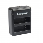 Kingma BM020 Dual-Slot Battery Charger for GoPro Hero 4 - Black + Gray