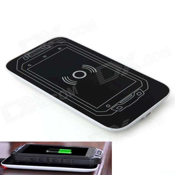 Portable Smartphone Wireless Charger Pad + 2000mAh Li-ion Battery for iMAN i3 - White + Black 36v 2a battery charger output 42v 2a charger input 100 240 vac lithium li ion li poly charger for 10series 36v electric bike