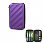 BUBM Shockproof EVA Hard Shell Large-Capacity Multi-Purpose Digital Storage Bag - Purple