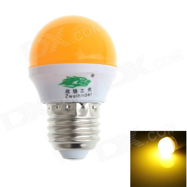 Zweihnder CMY-28 E27 3W 280lm 6500K 8-2835 SMD Yellow Light Bulb Lamp (AC 100~240V)