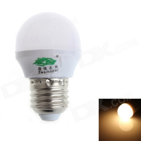 Zweihnder CMY-26 E27 3W 280lm 3500K 8-SMD 2835 LED Warm White Light Bulb - White (AC 100~240V)