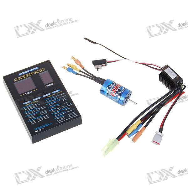 Hobbywing EZRUN 18A ESC with 5200KV 18T Brushless Motor and Program Card Combo Set